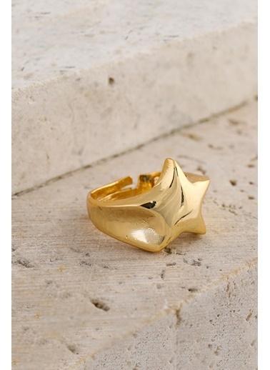 New Obsessions Yıldız Ayarlamalı Şövalye Yüzük Altın